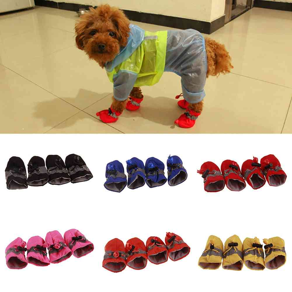 Pet Dogs Winter Shoes, Rain Snow Waterproof Booties Socks Rubber Anti-slip Shoes For Small Dog Puppies Footwear Cachorro