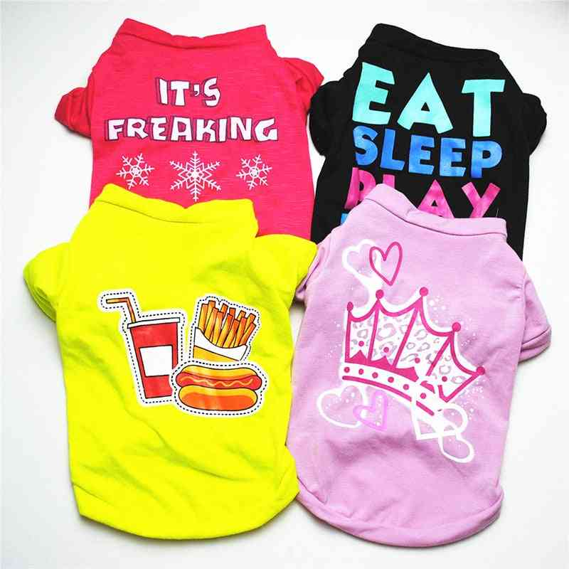 Cute Vest Shirt Costume Cotton For Dogs