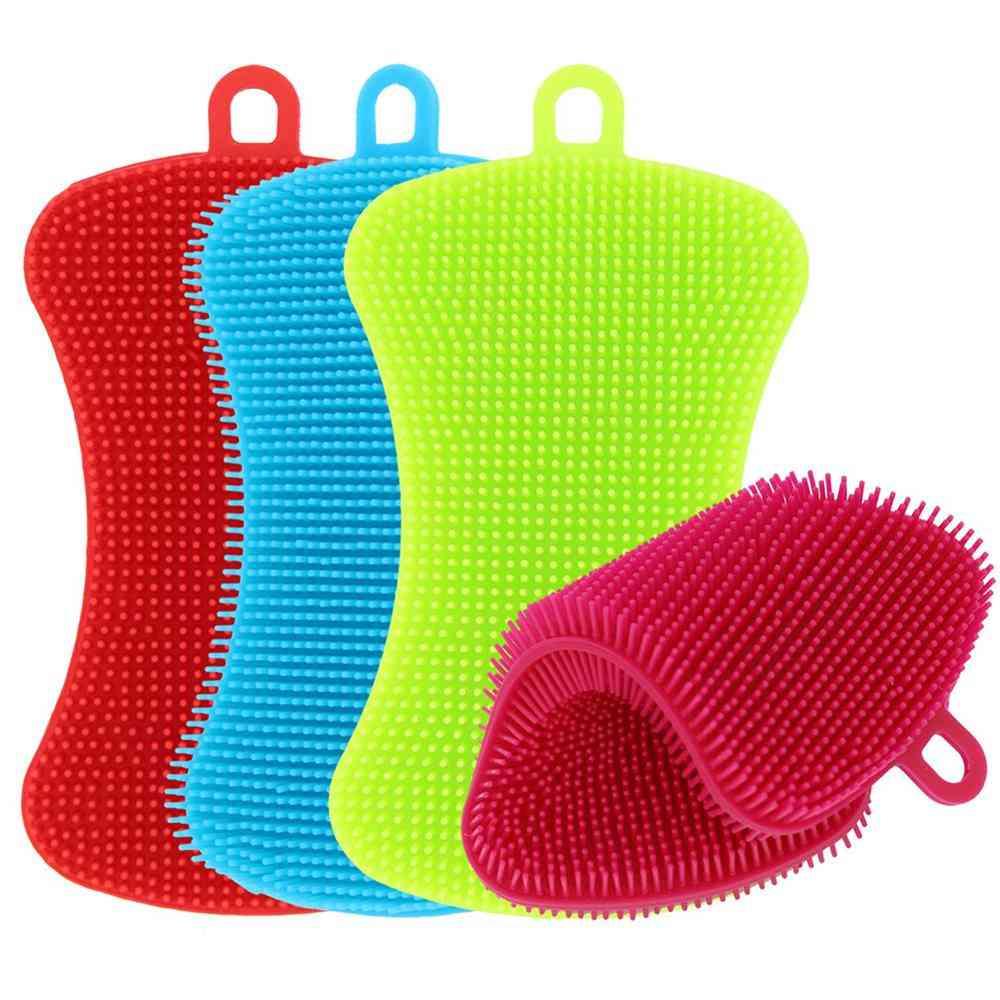 Silicone, Dishwashing Sponge / Scrubber For Pot, Pan, Fruit & Vegetable Cleaning