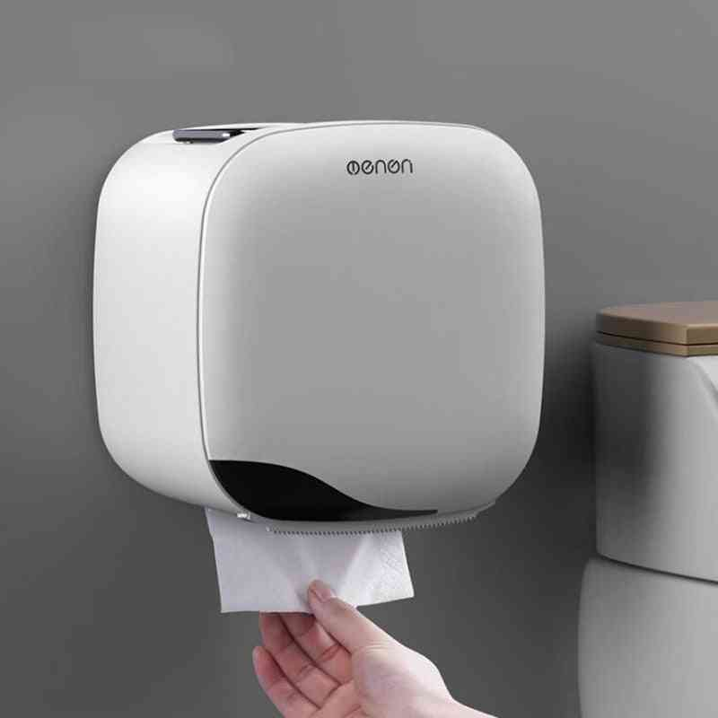 Wall Mounted Waterproof Toilet Paper Holder Tissue Box Storage Rack Home Kitchen Bathroom Accessories