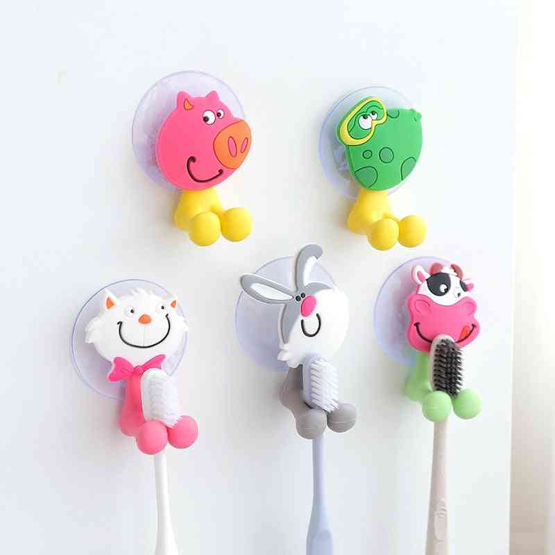 Cartoon Toothbrush Holder Wall Mounted Cute Toothbrush Holder Bathroom Accessories Organizer For Toothbrushes