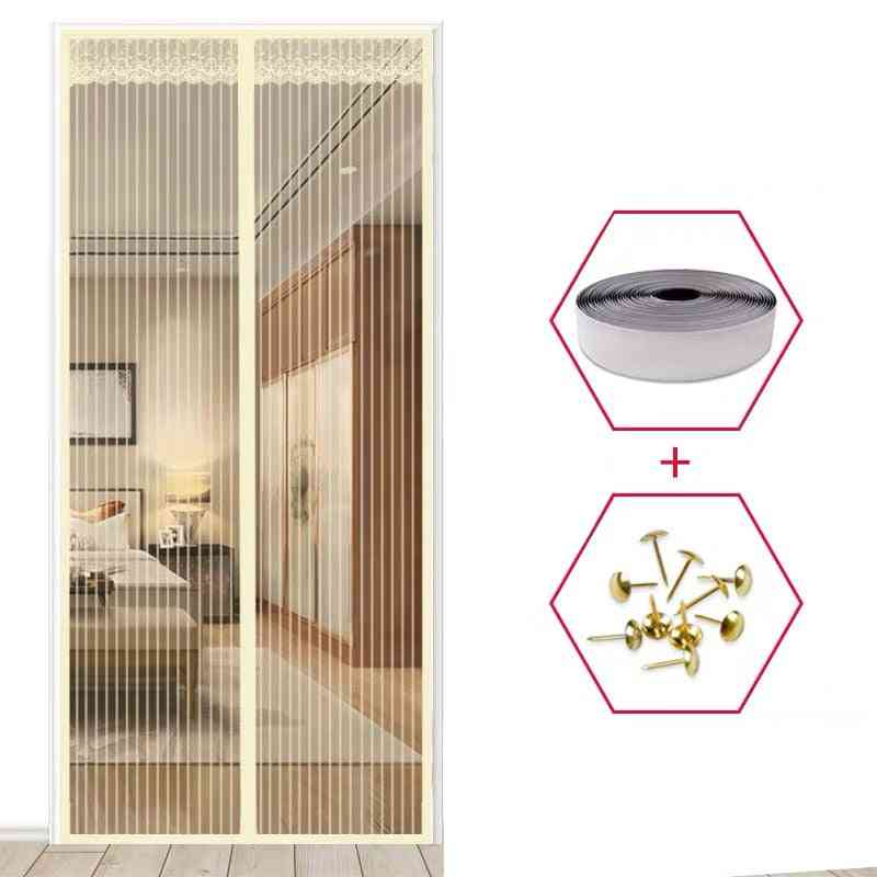 High-quality Magnetic Mesh Summer Anti Mosquito Net On The Door Magic Magnets Screen Door Curtain
