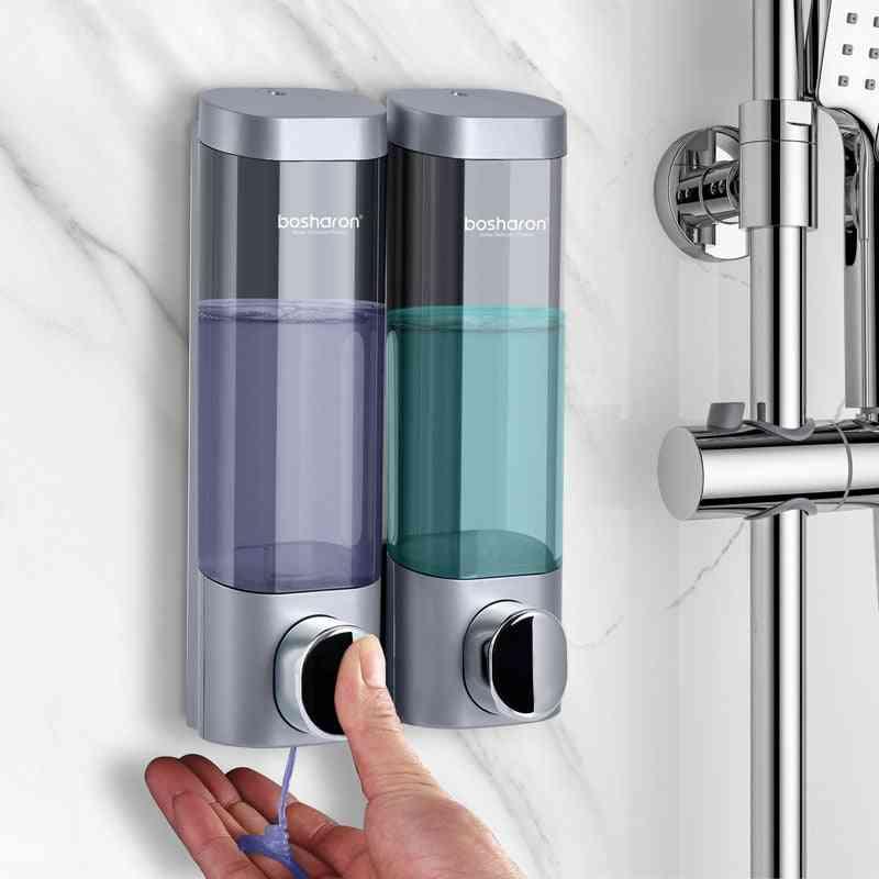 Bathroom Liquid Soap Dispenser Wall Mounted For Kitchen Plastic, Shower Gel Detergent Shampoo Bottle Hotel Home Accessories