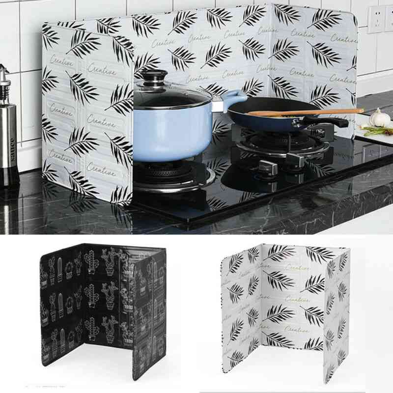 Home Stove Prevent Oil Splash Foil Plate Screens - Cooking Hot Baffle Kitchen Tool Dividers