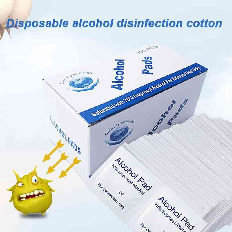 Disposable Swap Pad Wet Wipe For Antiseptic Skin Cleaning Care