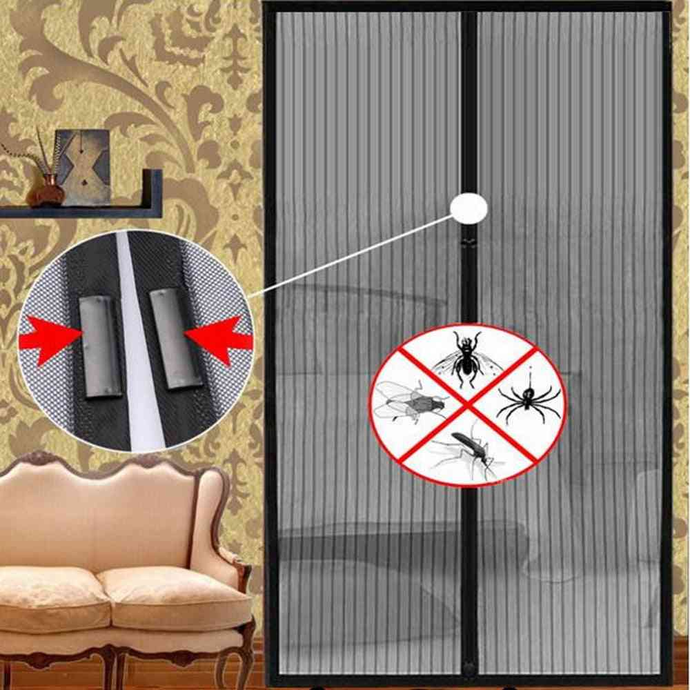 Summer Anti Insect Sandfly Netting Curtain With Magnets On The Door Mosquito Mesh Screen
