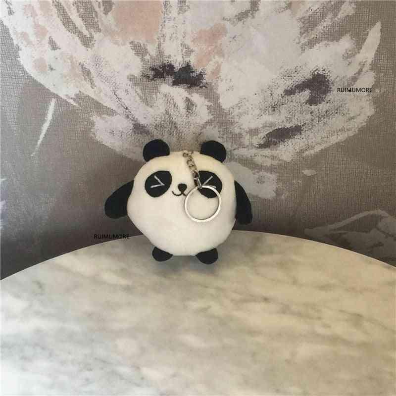 Cute Panda-stuffed Plush Toy Design Pendant/keychain