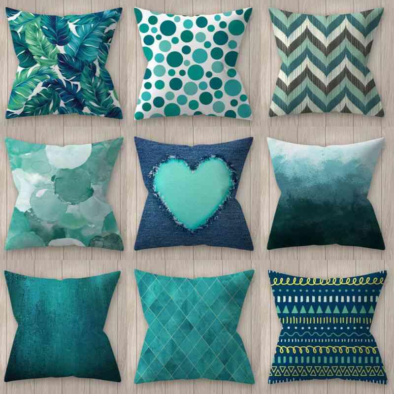 Modern Geometric Print 45*45cm Square Decorative Throw Pillow Case