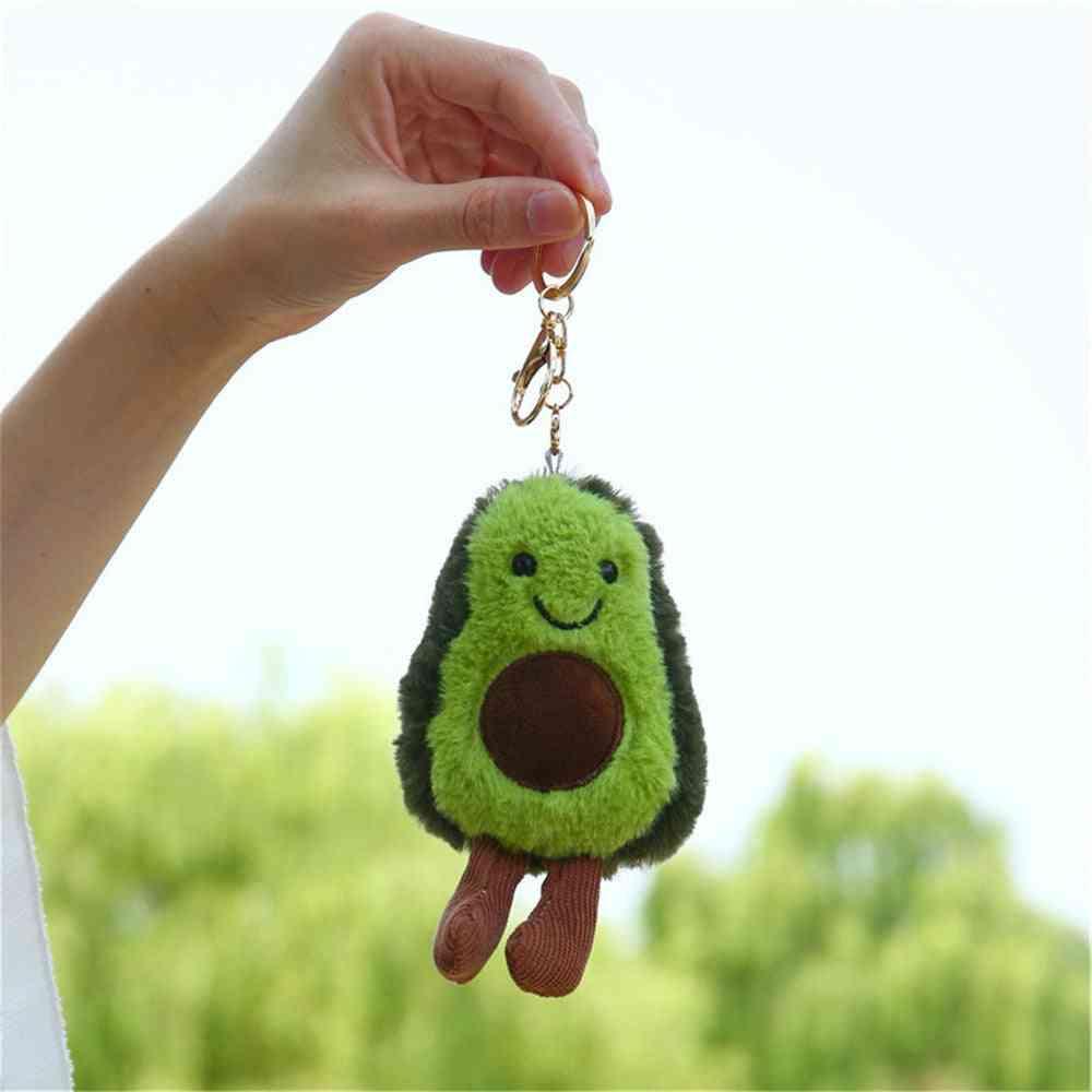13cm Fruit Avocado Pendant Cute Doll Key Chain - Plush Plant Ladies Bag Pendant