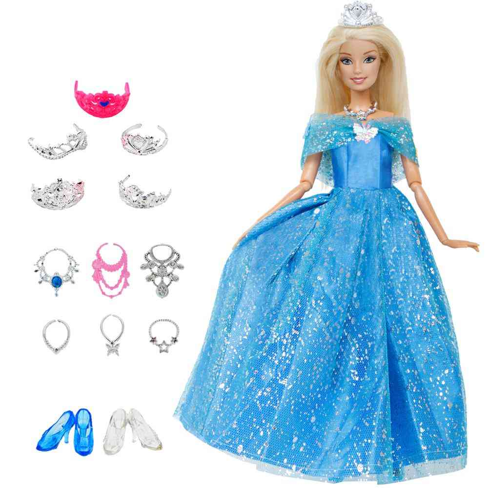 Fairy Tale Doll Dress - Shoes, Handbag, Glasses And Clothes For Barbie