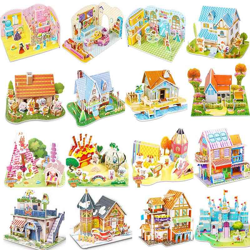 Furniture Dollhouse - 3d Puzzle Educational Toy For