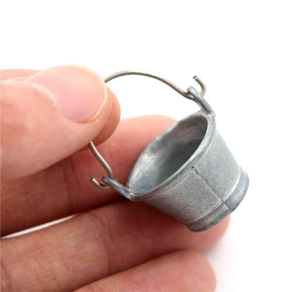 Water Bucket 1:12 Fairy Home Kitchen Pretnd Play Game, Dollhouse Miniature Bucket Classic Pretend Play Furniture
