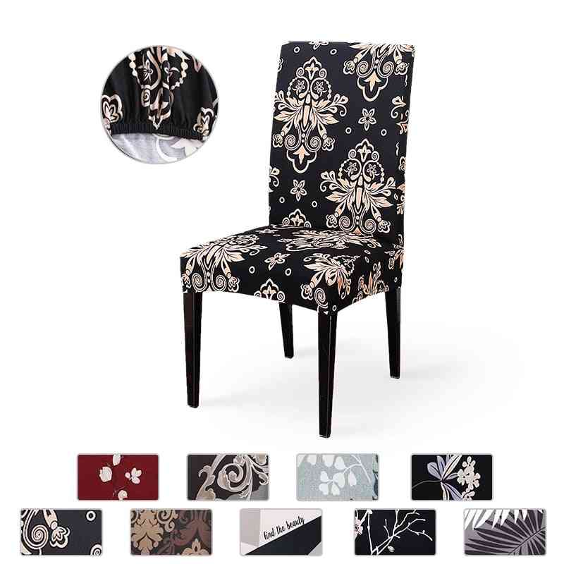 Modern Removable Anti Dirty Spandex Elastic Printing Dining Chair Slipcover
