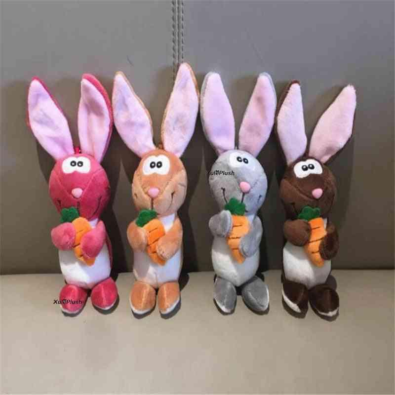 4colors 12cm Rabbit Doll Plush Stuffed Key Chain - Wedding ,bouquet