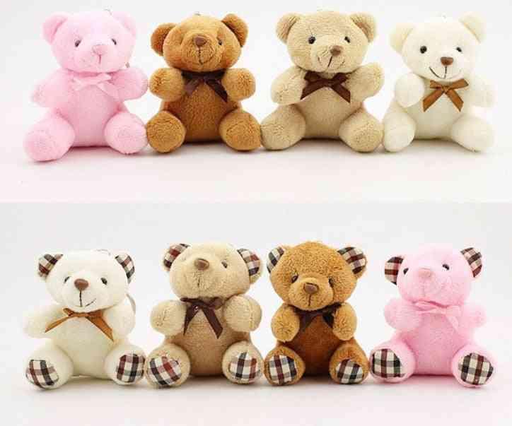 Small 10cm Key Chain Plush Bear - Stuffed Animal Toy