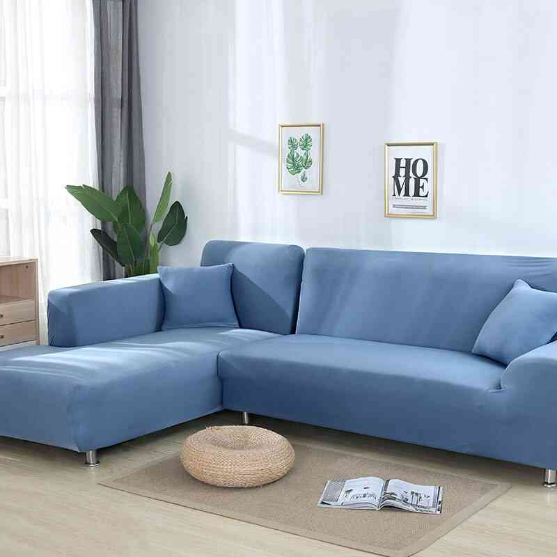 Stretch Elastic Sectional Corner L-shape Sofa Covers For Living Room