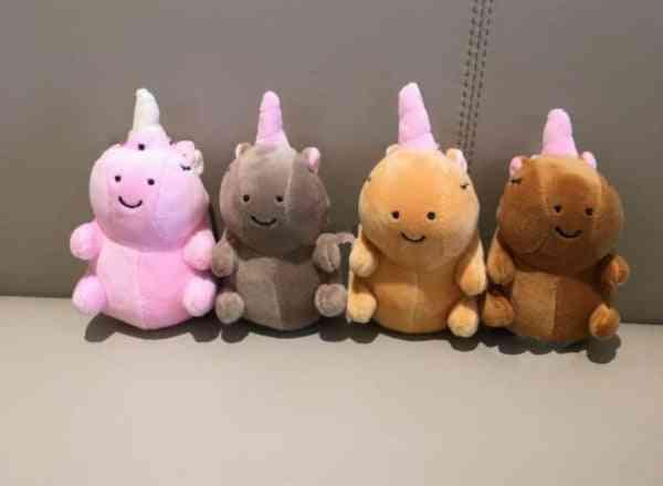 Unicorn Design, Stuffed And Plush Toy Key Chain