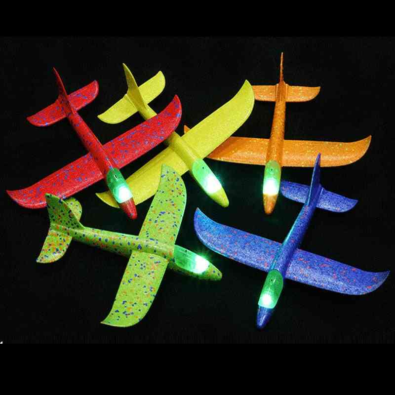 Hand Throw Flying Glider Luminous Planes For