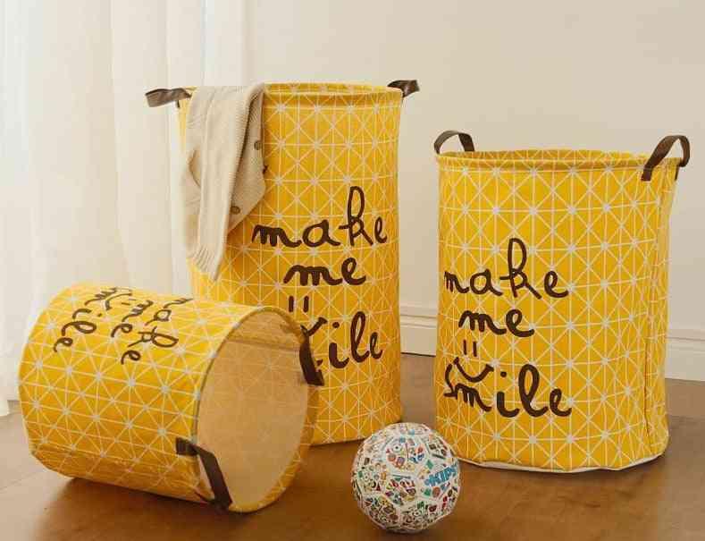 Large Laundry Storage Basket - Cotton Washing Clothes Baby Orgnizer