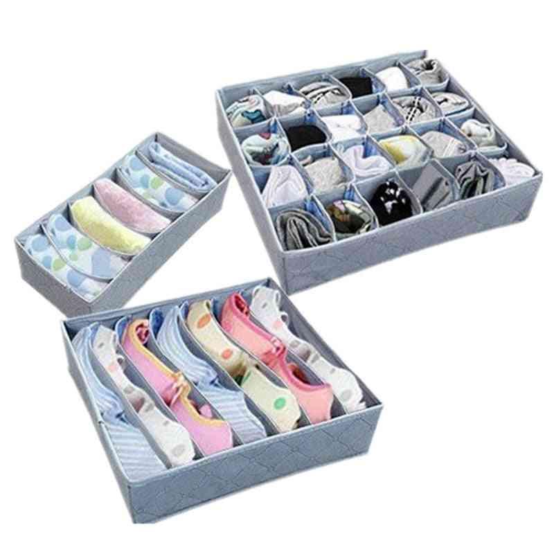 Fold Able Wardrobe Storage Organizer, Bra, Underwear, Clothes Container