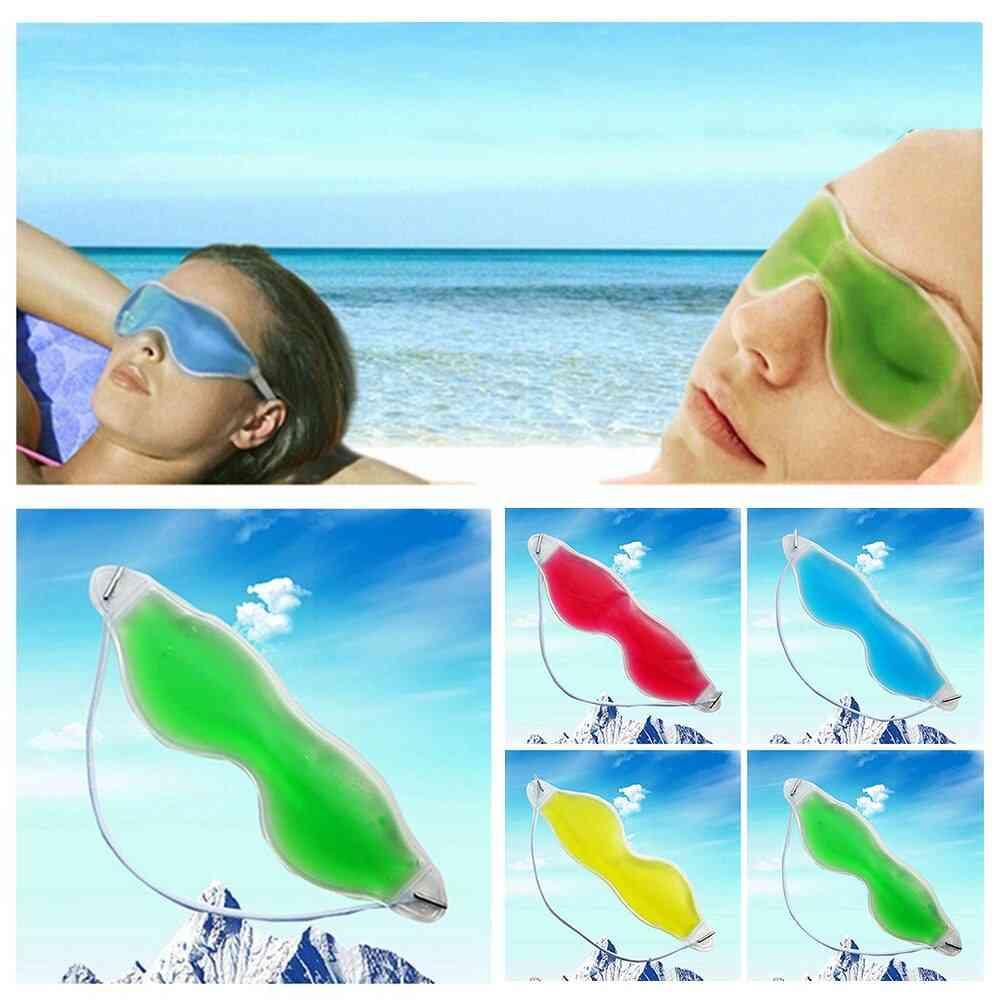 Gel Cold Sleeping Eye Mask Goggles Gel, Sleep Eye Protection Ice Cool Soothing Tired Eye Care Tools