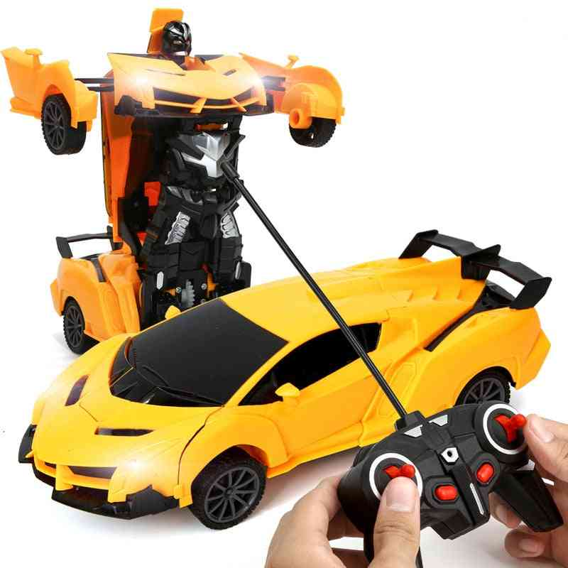 2 In 1 Rc Car Toy Transformation Robots Car - Driving Vehicle Sports Cars , Models Remote Control Car Rc Toy