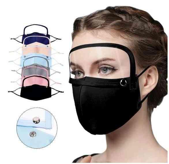 Faceshield Protection Reusable Mask With Detachable Eyes Shield & Adjustable Bandage