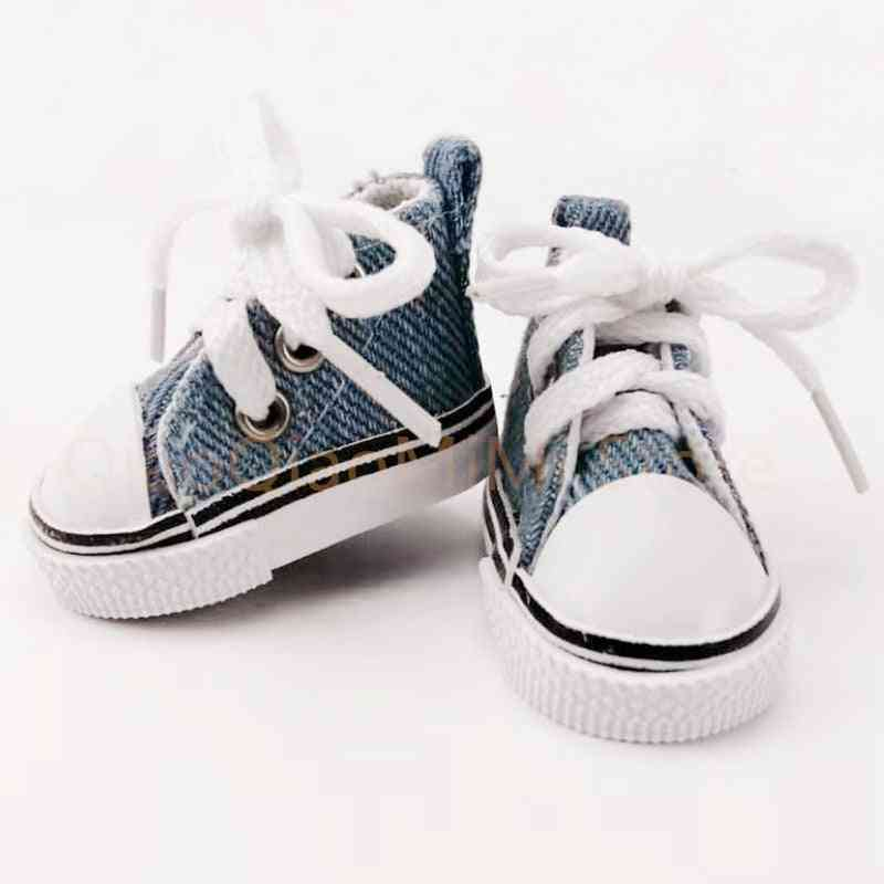 1/6 Bjd Doll Shoes 5cm , High Top Canvas Bjd Handsome Candy Color , Sneakers For Dolls