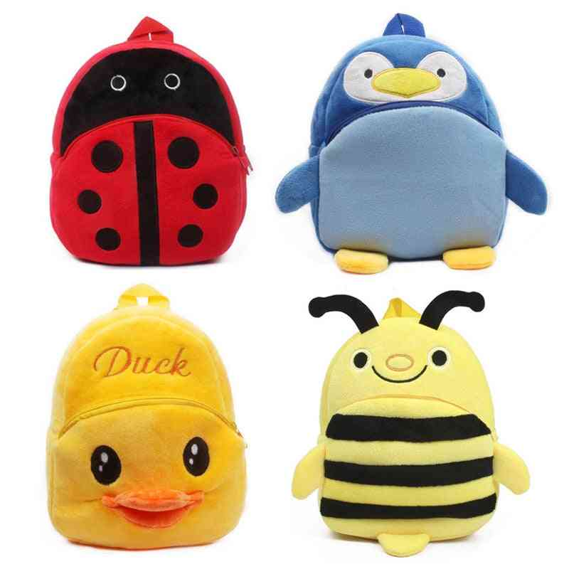 Cute Cartoon Kids , Plush Backpack Toy - Mini School Bag For's Gifts