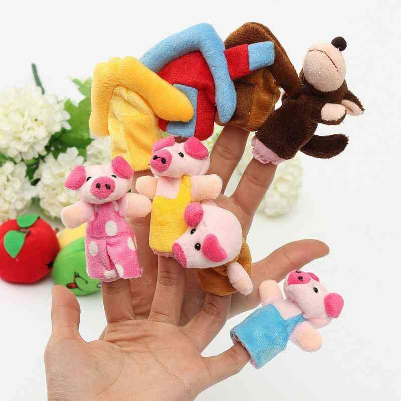 8pcs-finger Puppets For Kids Educational Story