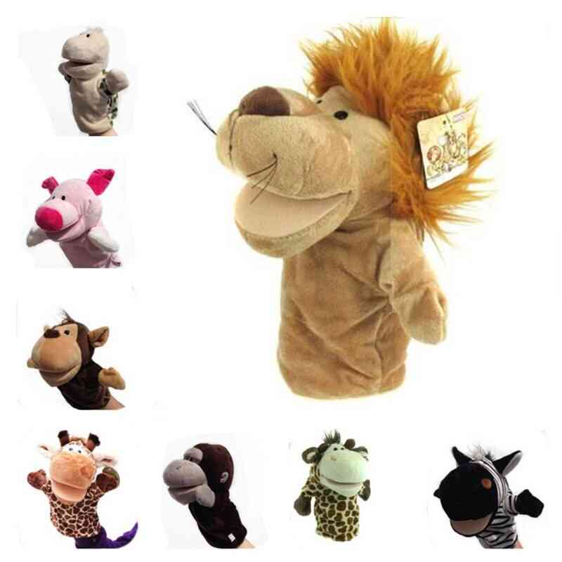 Baby Animal Plush Hand Puppet- Lion, Pig And Elephant  Doll Toy For