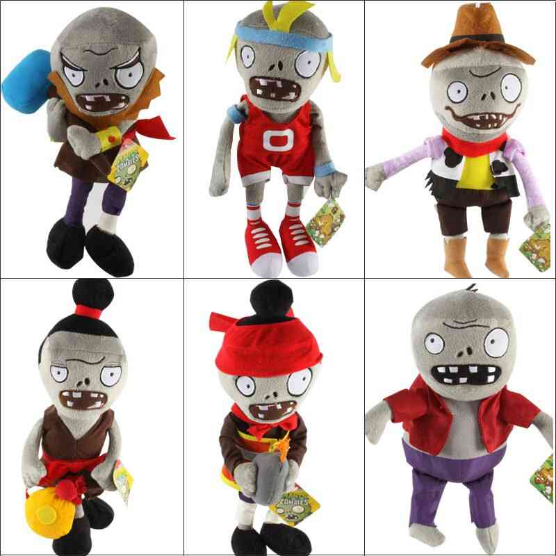Pvz Zombies Cosplay Plush Stuffed Doll - Figure Statue For