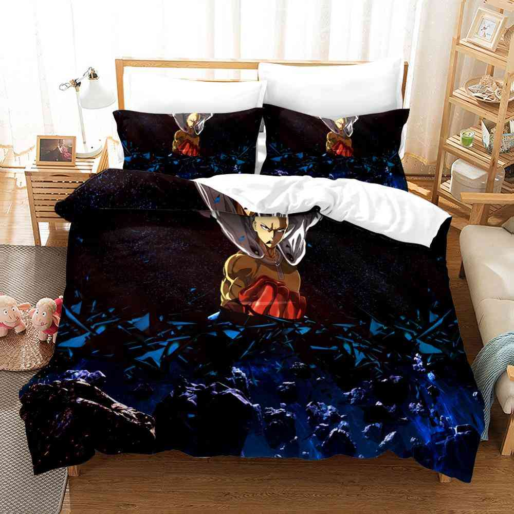 One Punch Man Genos Cartoon 3d Printing Quilt Cover And Pillowcase No Sheets Bedding Set