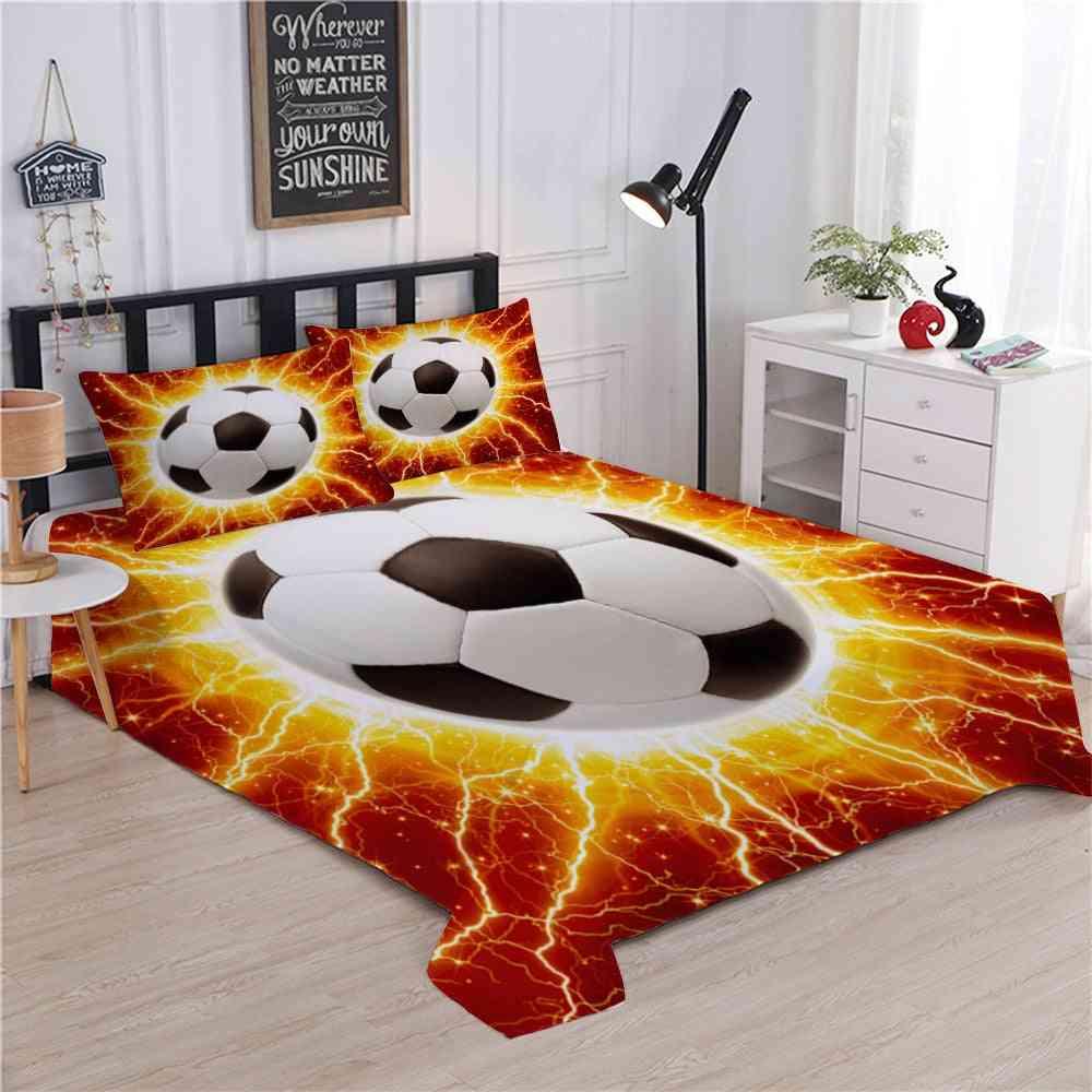 Luxury Lightning Football Duvet Cover Bedding Sets