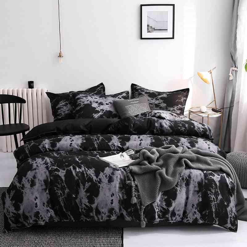 Modern Geometric Print Luxury Duvet Cover Set
