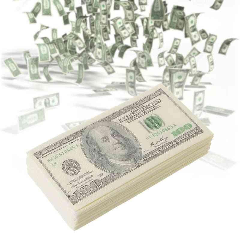 3 Layers 100 Dollar Money Printed - Pocket Tissue Paper