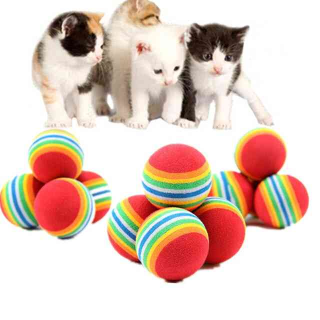 Scratch Natural Foam - Rainbow Colorful Training Ball For Pets