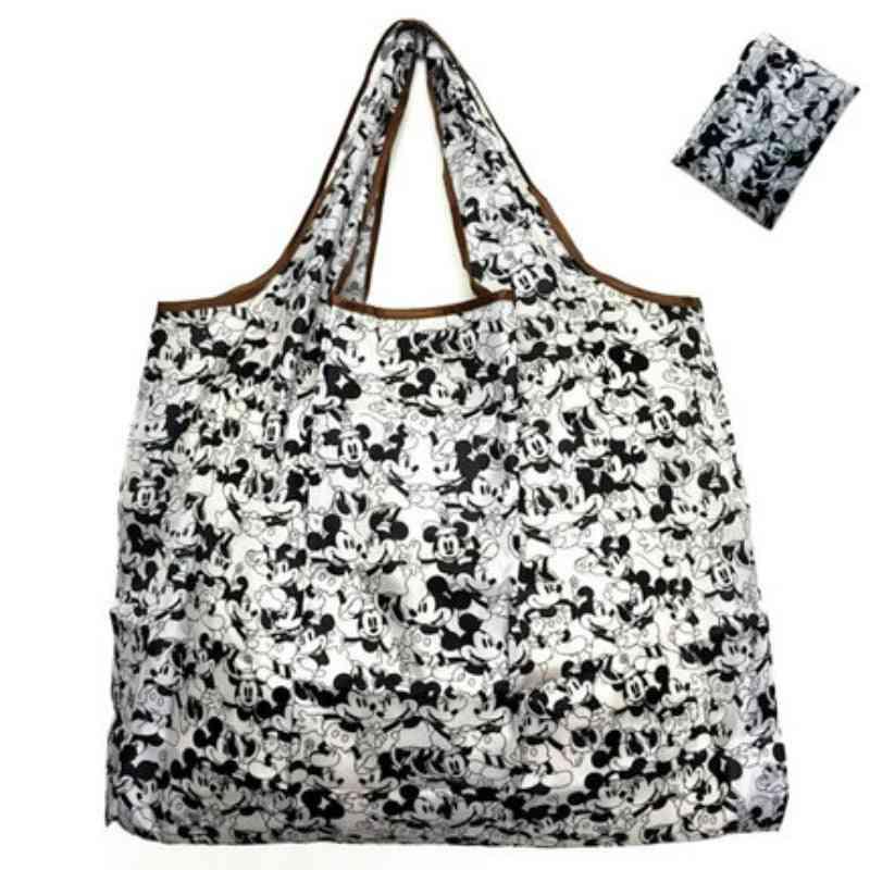 Disney Cartoon Folding Bag For Shopping - High Capacity Hand Bag Shoulder