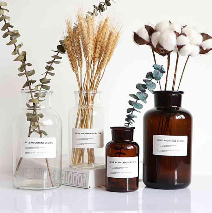 Glass Vase, Flower Pot For Home Decoration