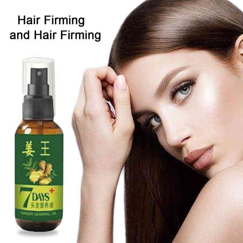 7 Days Ginger Hair Growth - Anti Preventing Hair Loss Alopecia Liquid For Damaged Hair Repair Growing