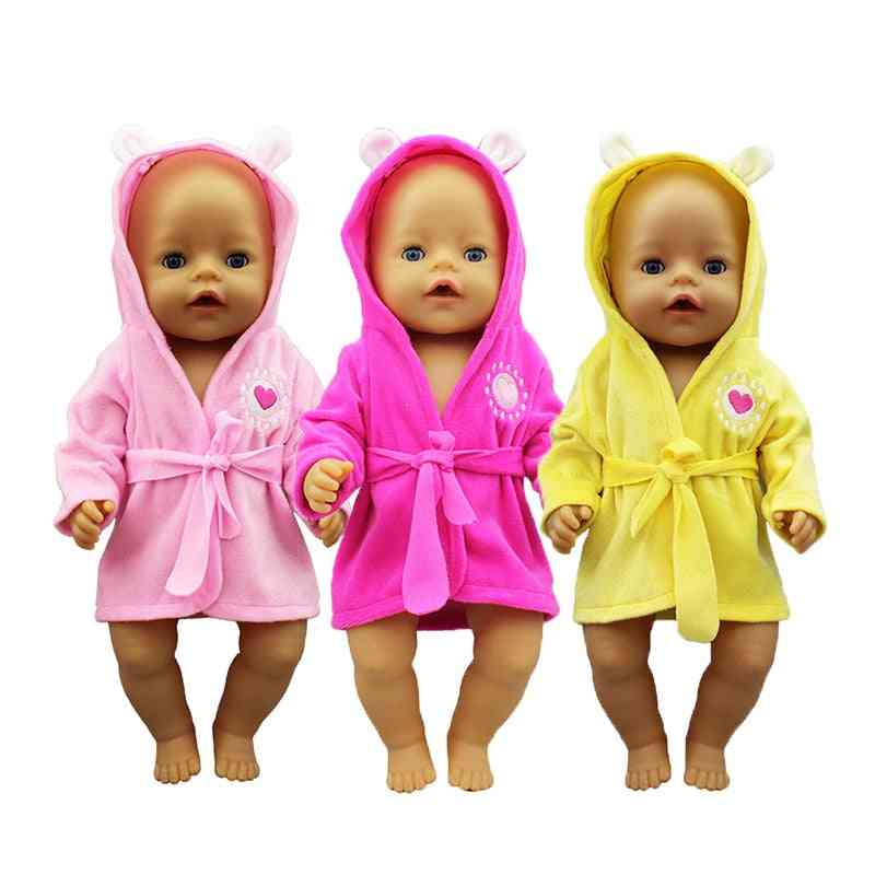 Bathrobe Doll Clothes - Size Fit 17 Inch 43cm Doll Accessories Playing
