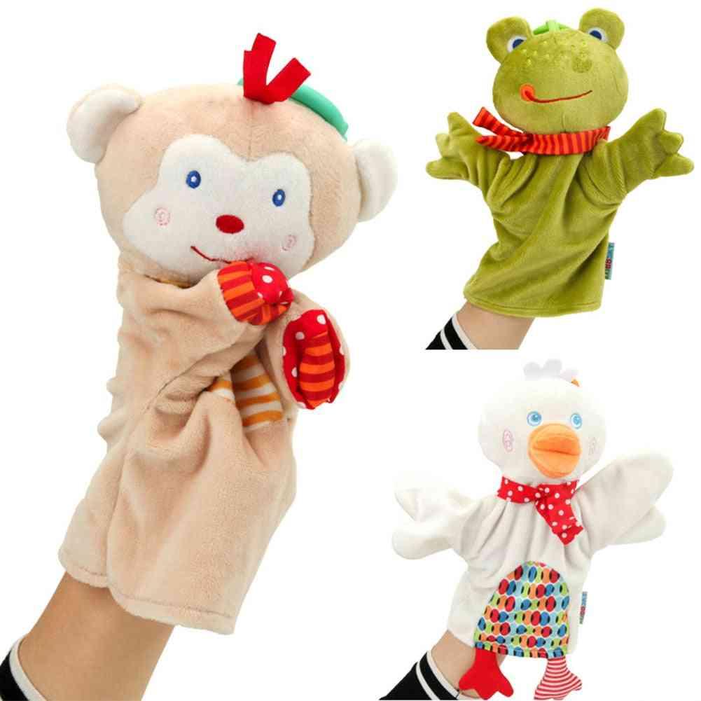 Cartoon Cute Animal, Plush Toy Puppet - Monkey / Frog / Duck Figurine