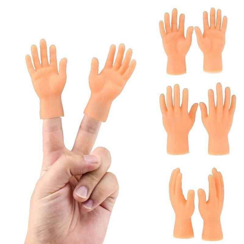 Silicone Finger Puppets, Left Hand, Right Hand - Halloween Prank Toy