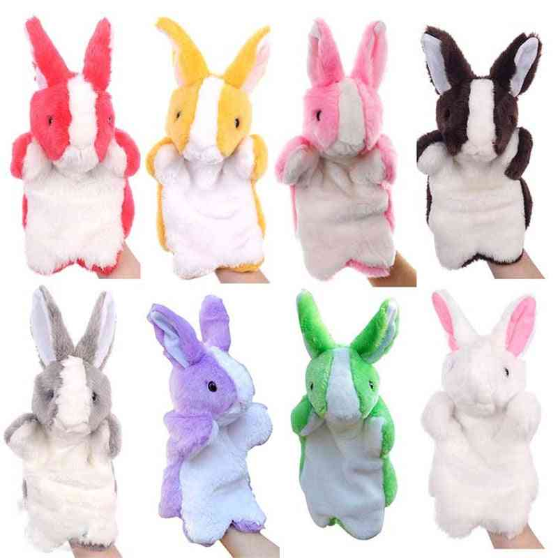 Cute Baby Toy Animal Finger Puppet - Plush Cartoon , Biological Child Baby For Birthday & For Telling Story