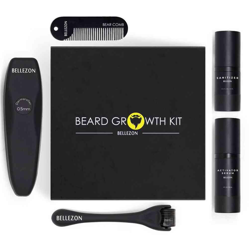 4 Pcs Barber Beard Growth Kit For Men