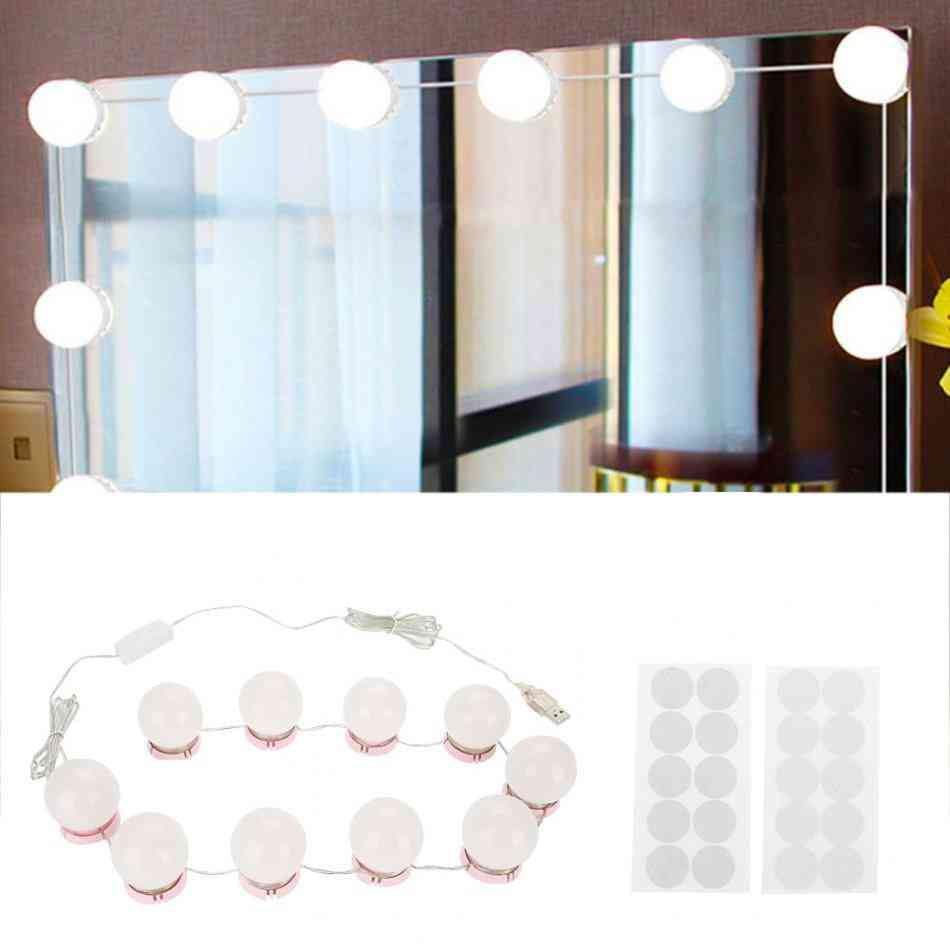 Products Dimmable Led Light Bulbs Kit For Vanity Makeup Mirror-usb Charging, Super Bright And Portable