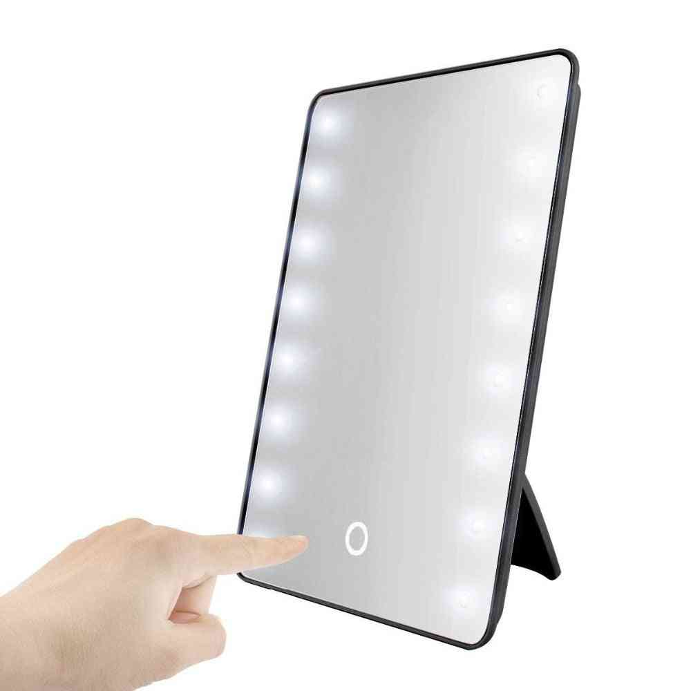 Makeup Mirror With 8/16 Leds, Cosmetic With Touch Dimmer