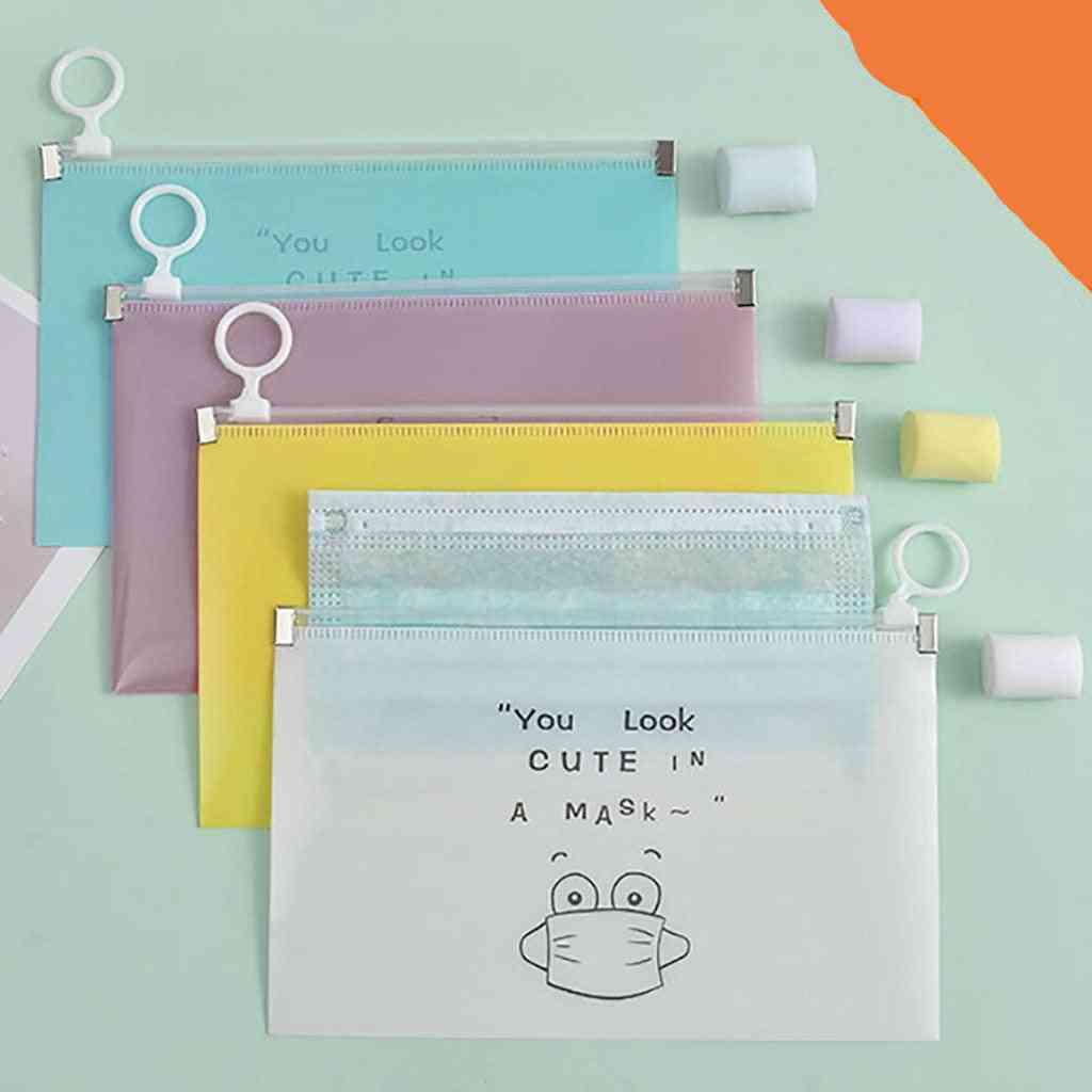 Windproof, Printed Storage Pouch For Diposable Face Mask