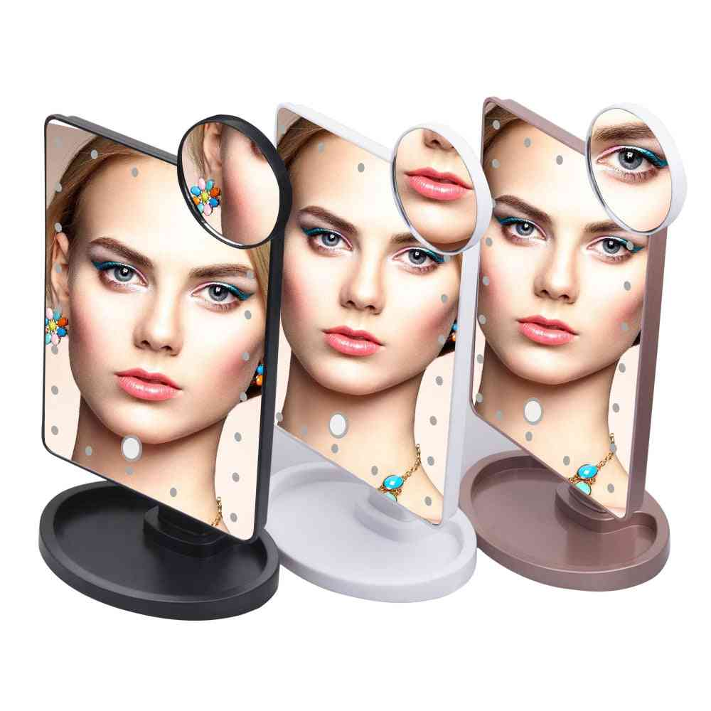 22 Or 16 Led Lights, Multi Angle Adjustable, Touch Screen Makeup Mirror