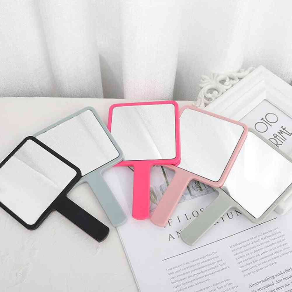 Handle Square Makeup Mirror - For Women